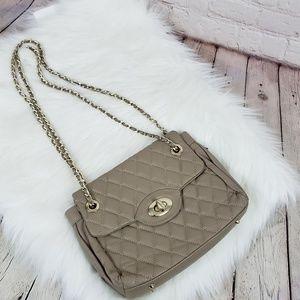 Vera Pelle Quilted Italian leather handbag